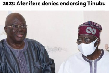 2023: Afenifere Denies Endorsing Tinubu as Presidential Candidate, Flays Adeyeye's insensitive Comments