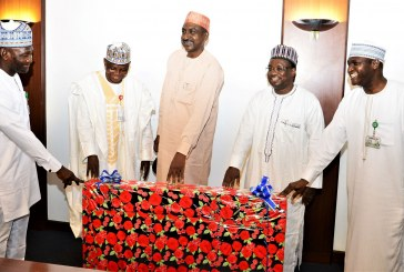 Farewell presentation to the outgoing PLO at Aso Rock