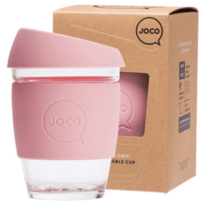 Resuable Pink Glass Cup Large