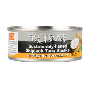 Fish4Ever Skipjack Steaks Coconut Oil ~ 160g