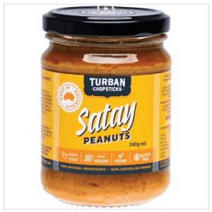 TURBAN CHOPSTICKS Curry Paste Satay Peanuts 240g