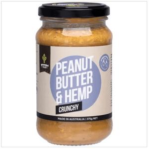 Natural Nut Butter Peanut Butter & Hemp Crunchy 375g