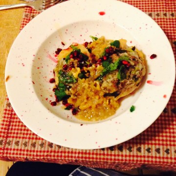 lamb-stuffed quince recipe by Ottolenghi