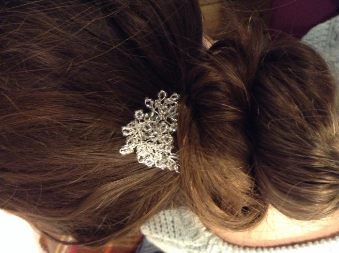 D.I.Y beaded hairpiece