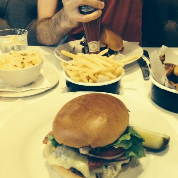eating at byron, leeds