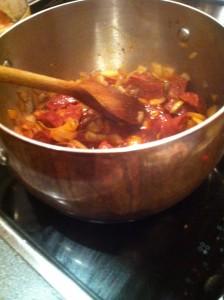 rick stein-inspired chorizo and bean stew