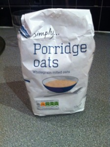 porridge breakfast live below the line