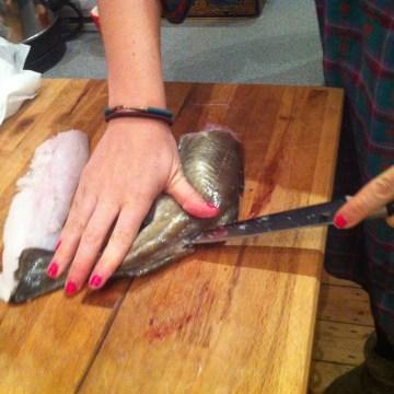 chorizo and bean with cod