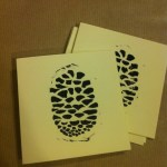 pine cone design mini handmade christmas cards