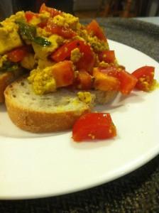 South Indian spicy take on Aine Carlin's scrambled tofu recipe