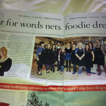 coverage in waitrose magazine competition
