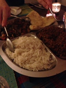 thali indian dinner party vegetarian recipes