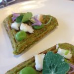 broad bean waffles food at northern monk