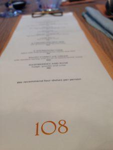 108 review copenhagen menu
