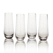 Beautiful Glassware makes a great gift too! This is a 4 pack of champagne flutes perfect for a new years party