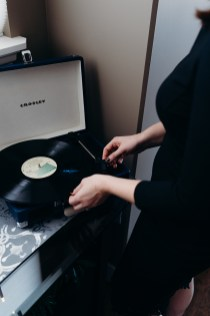 Crossley portable record player- a party hit- about $80-100, I got mine from Wayfair