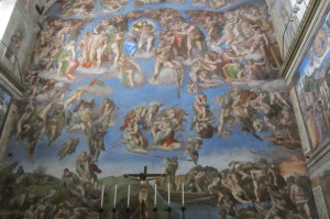 The Last Judgement painting Sistine Chapel, Visit Rome, www.theeducationaltourist.com