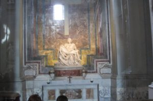 Michaelangelo's Pieta, Visit Vatican City with KIDS, www.theeducationaltourist.com