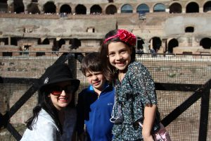 The Educational Tourist with kids in Colosseum, Colosseum, www.theeducationaltourist.com