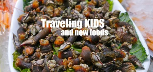 dish of barnacles, Traveling Kids and New Foods, www.theeducationaltourist.com