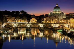 vatican city view from river