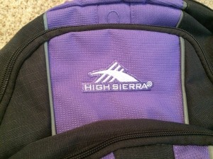 High Sierra logo on purple black pack, suitcases for kids, www.theeducationaltourist.com