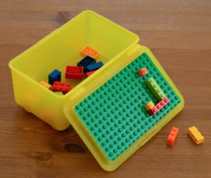 DIY Lego container, Activities for Traveling KIDS, www.theeducationaltourist.com