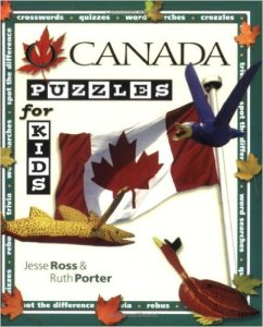 O Canada Puzzles for Kids by The Puzzling Sports Institute, Kids Books set in Canada, www.theeducationaltourist.com