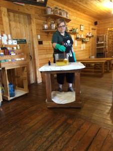 woman making soap, Canada Travel Itinerary, www.theeducationaltourist.com