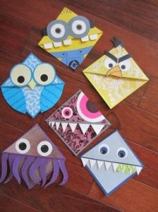 bookmark monsters from art teacher Mrs. Peroddy, Road Trip Activities, www.theeducationaltourist.com