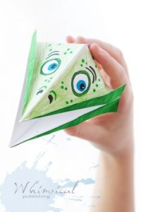 Big Mouth paper art creature from Whimsical Publishing Company, Travel Activities for KIDS using paper, www.theeducationaltourist.com