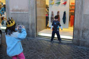 Perspective - Kid taking photo