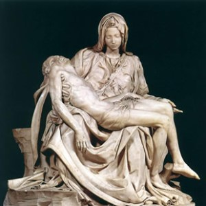 The Pieta we are familiar with - in the Vatican.