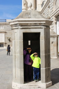 kids in a guard shack, Traveling with Kids: Top Tips, www.theeducationaltourist.com