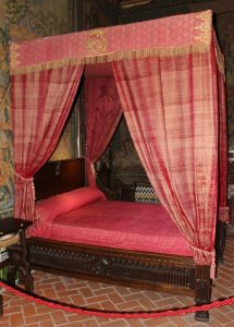 Royal bed in Alcazar in Segovia, Spain, Visit Madrid, www.theeducationaltourist.com