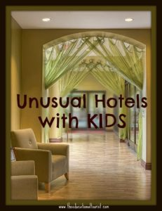 hotel lobby, unusual hotels with kids