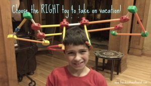 boy with tinker toy hat, Choose the right toy, www.theeducationaltourist.com