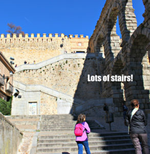 Stairs near Aquaduct in Segovia, Spain, Visit Madrid, www.theeducationaltourist.com