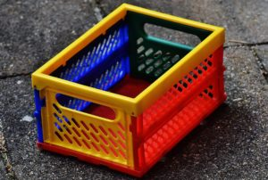 Plastic colorful foldable box, Choose the right toy, www.theeducationaltourist.com