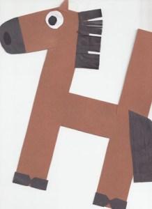 H letter horse