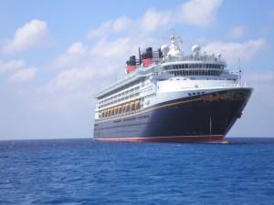Disney cruise ship on the open sea
