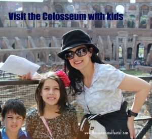 The Educational Tourist and kids inside the colosseum in Rome, www.theeducationaltourist.com