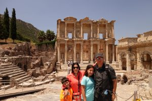 family in Ephesus, Choose a Safe Travel Destination, www.theeducationaltourist.com