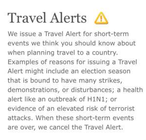 US State Department Travel Alerts, Choose a Safe Destination, www.theeducationaltourist.com