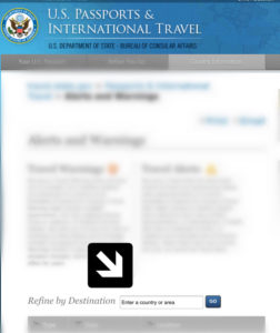 US State Department, Choose a Safe Travel Destination, www.theeducationaltourist.com