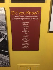 Possible names for CO: Capitol Building