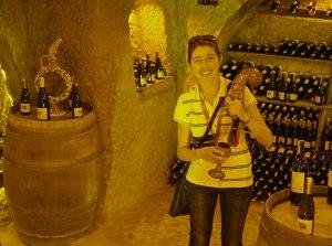 woman in wine cellar, SRM Travel Agency, www.theeducationaltourist.com