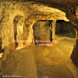 Kaymakli underground city in Turkey with KIDS