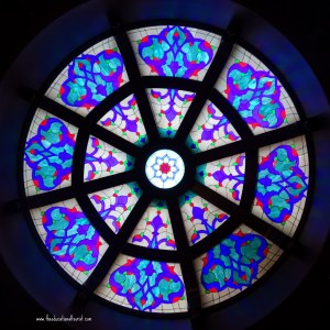 Stained glass, Sirkeci Mansion hotel Istanbul, www.theeducationaltourist.com