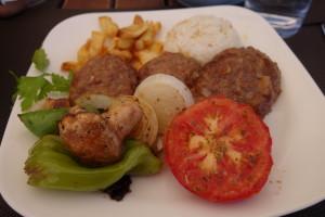 Turkish meal, Taskonaklar Hotel, www.theeducationaltourist.com